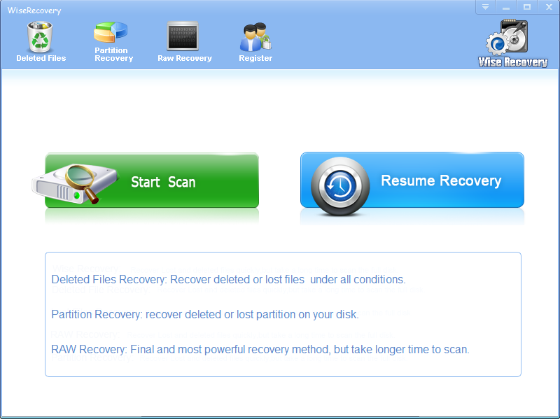 Click to view WiseRecovery screenshots